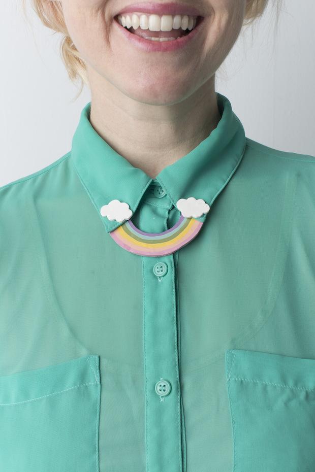 Craft Some Luck: DIY Rainbow Collar Pin