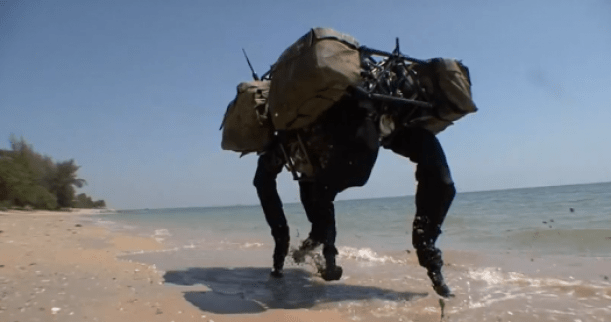 The robot can withstand harsh conditions in almost any environment.