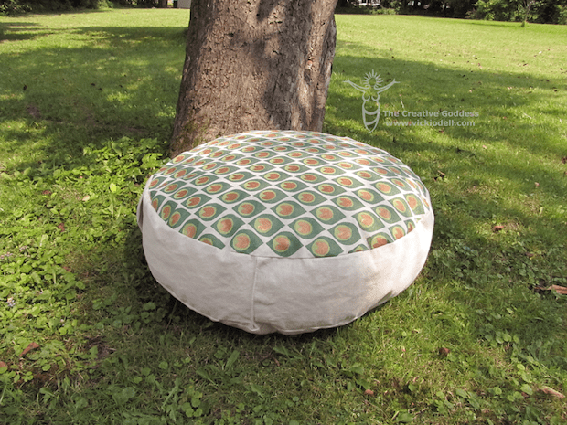 Relax or Meditate on a Hand-Painted Floor Pouf