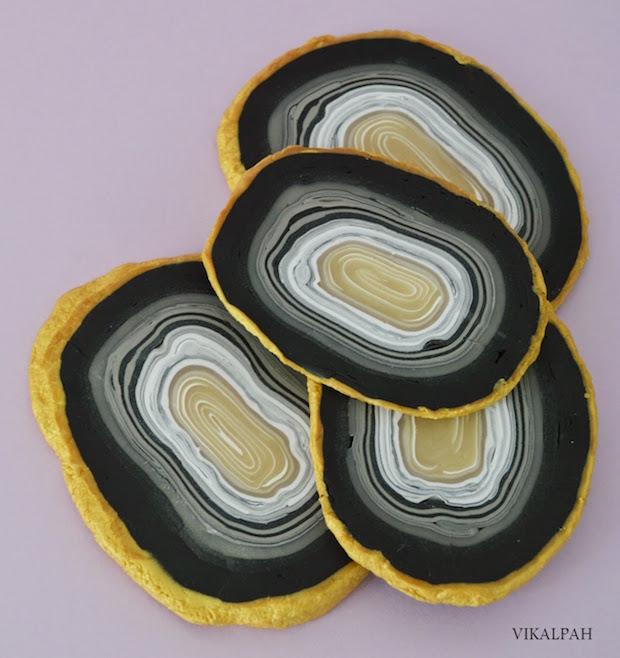Fancy Faux Agate Coasters