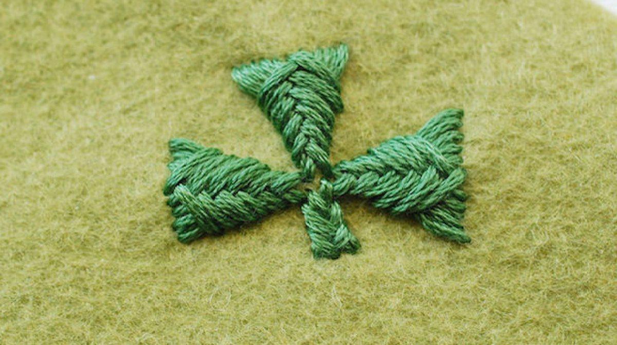 Stitch It: Embroidered Sprat's Head Shamrocks