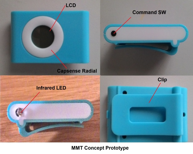 Movable Motion Tracker (MMT) MMT is the personal motion tracking device which you can attach to different parts of the body to track motions of each parts of your body. For example, - Attached to hat/ glasses to track motion of head. Ex. You can move mouse just move your head.  - Attached to hand to track motion of hand. Ex. You can control remote by using your hand movement Ex. R/C Car, TV remote control. - Attached to body (at belt ) to track motion of body. This is usefule fitness, Game controller - Attached to foot to track your movement while running or walking - Attached to personal belongings to track movement Ex Track movement of your bag or warn you when you leave your bag unintentionally. Visit the Gallery to vote for this project.