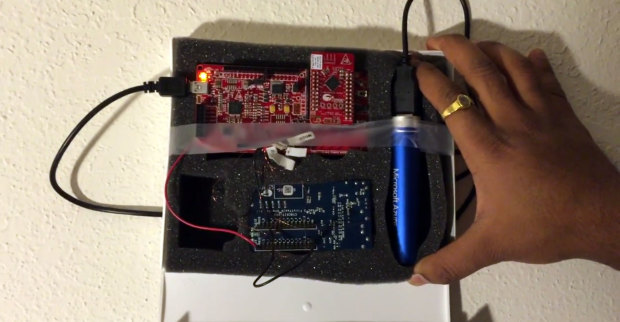 Hidden SPY Do you ever wonder that someone in your home is silently sneaking into your stuff when you are not at home? Do you want to track when your cupboard was opened by someone? Hidden Spy is your solution. Visit the Gallery to vote for this project.