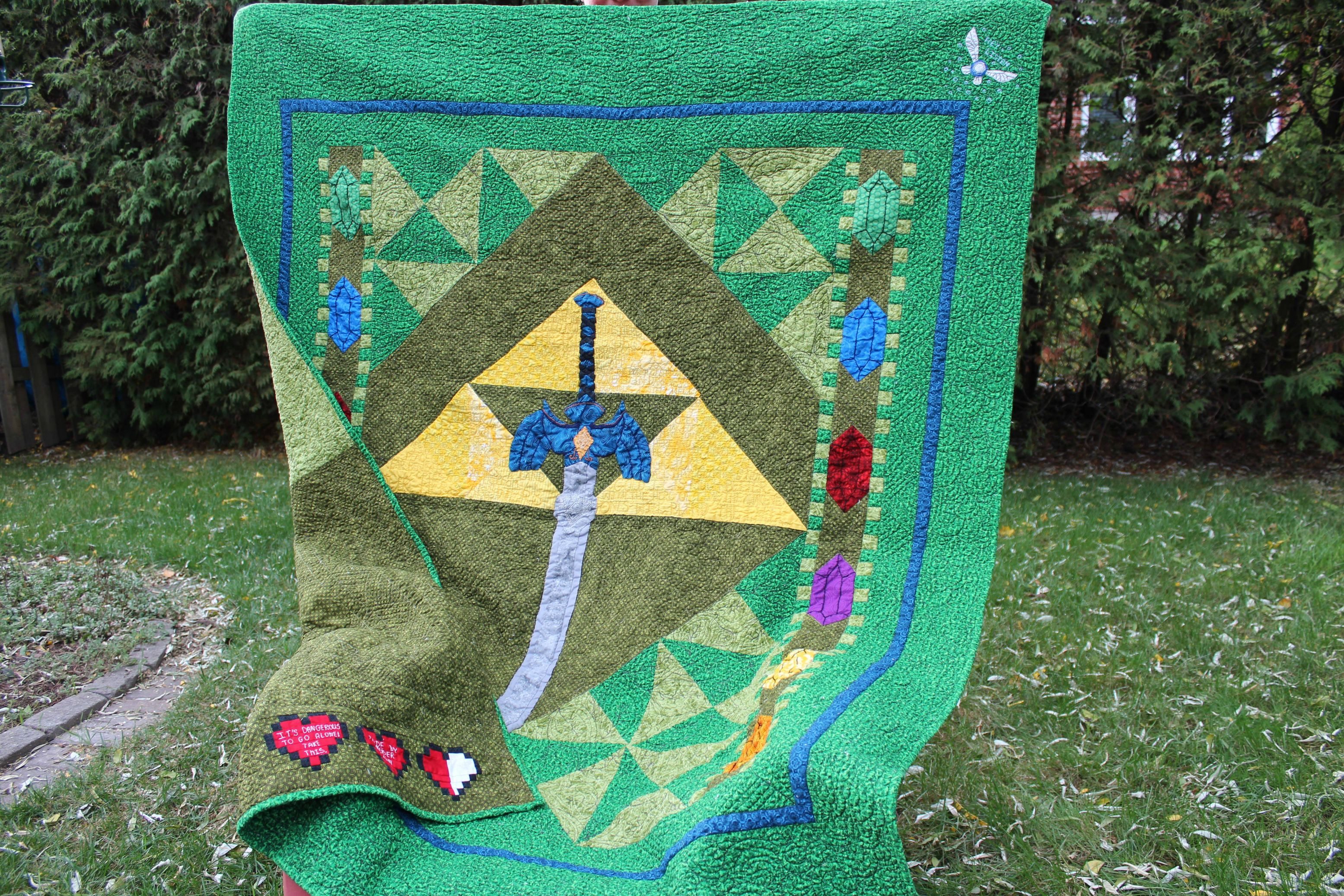 It's Dangerous to Go Alone, Take this Zelda Quilt!