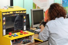A retro-arcade machine driven by a Raspberry Pi.