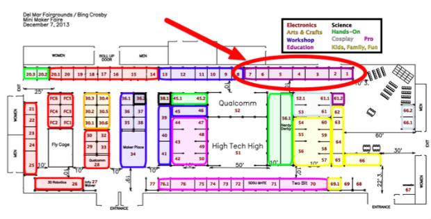 Clustering Maker Institutions on the Maker Faire Floor