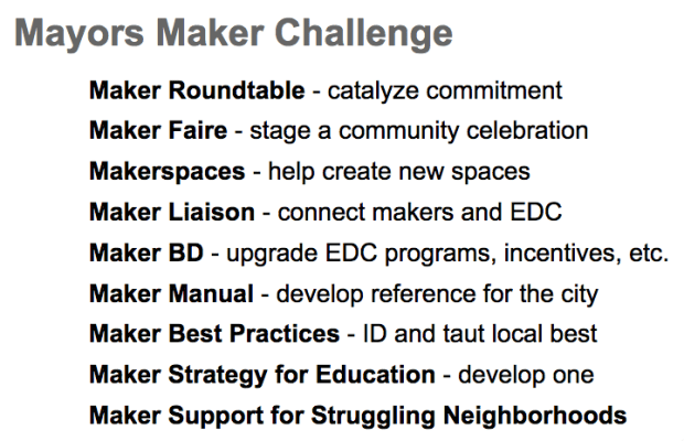 Making a Maker City — Mayors Maker Challenge (Part 2 of 3)