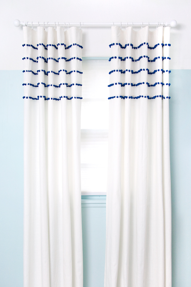 Windows Dressed to Impress: Pleated Pom-Pom Curtains