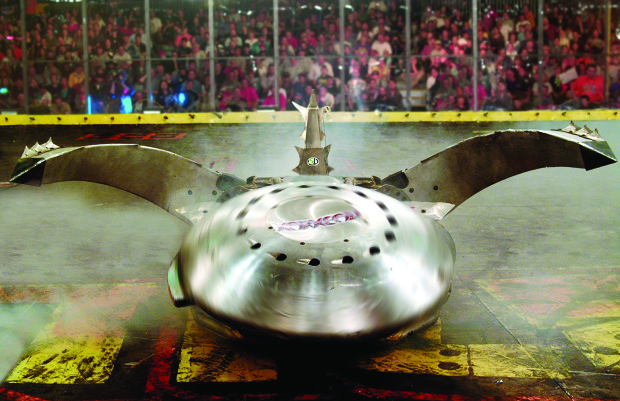 Warhead, a heavyweight BattleBots competitor from 2002. Image by Daniel Longmire.