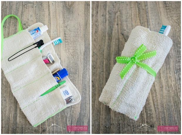How-To: DIY Washcloth Travel Toiletry Kit