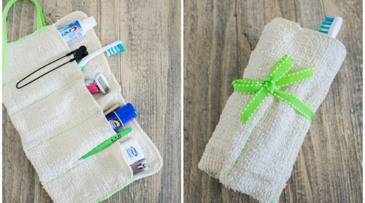How-To: DIY Washcloth Travel Toiletry Kit
