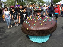 The iconic Bay Area Cupcake Cars, here spreading their sweet charm at the 2014 MFBA. Photo by John Biehler.