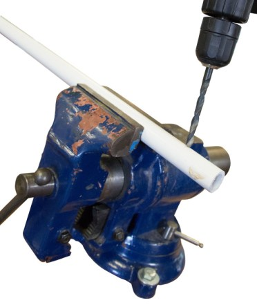 drilling PVC