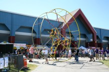 """Stationary Ferris Wheels are so 20th century. Makers want to go places. The """"Star Wheel"""" at Maker Faire Austin, 2007."""