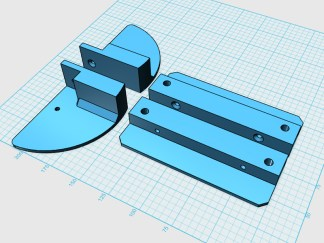 """Designing some 3D printed brackets to use on the shoulder """"bells"""" and chest plates."""