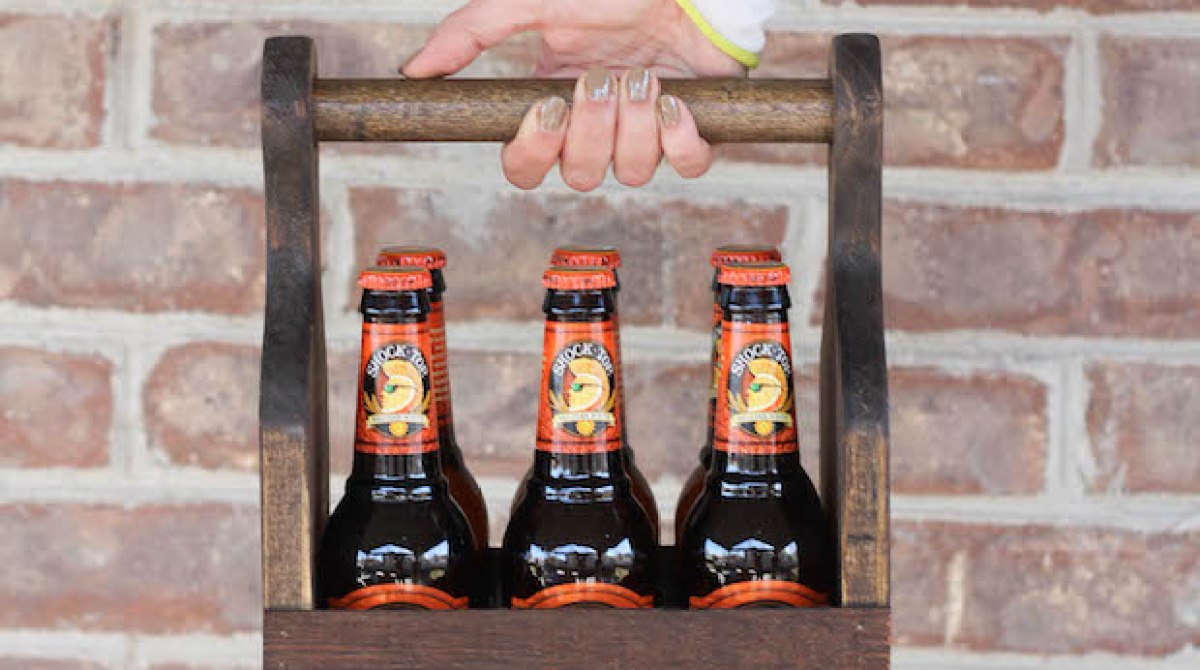 BYOB? Build a Wooden Beverage Carrier