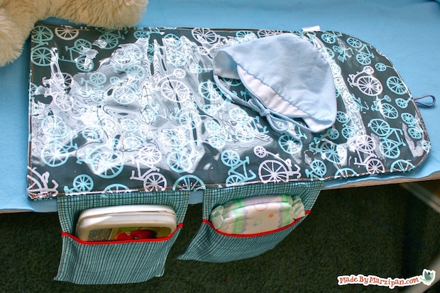 DIY Baby: All-in-One Changing Mat with Storage Pockets
