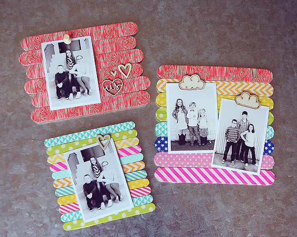 That's A Wrap! Washi Tape and Craft Stick Frames