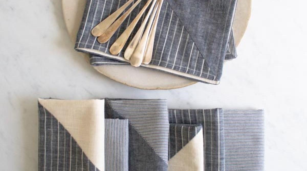 Stitch It: Pieced Fabric Napkins