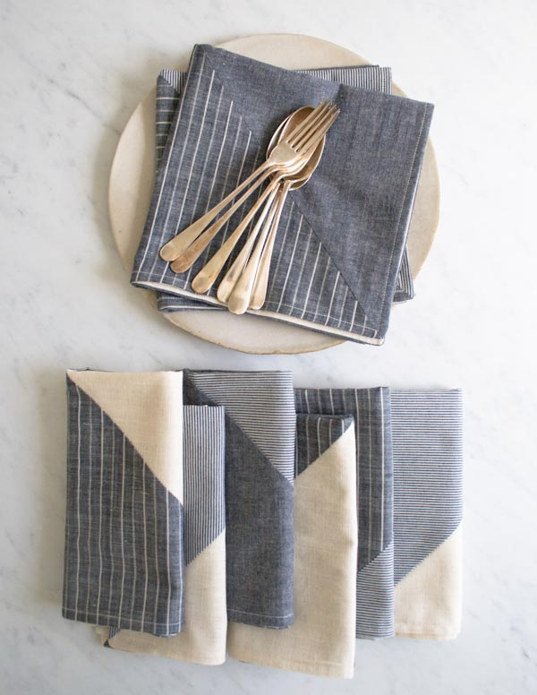 Stitch It: Pieced Fabric Napkins
