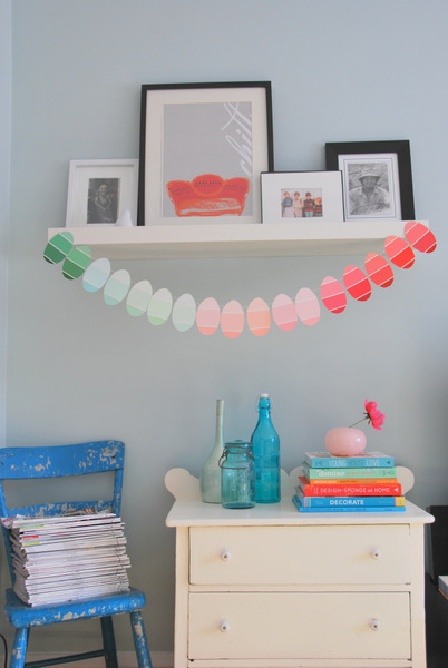 Craft in Color: Paint Chip Easter Egg Garland