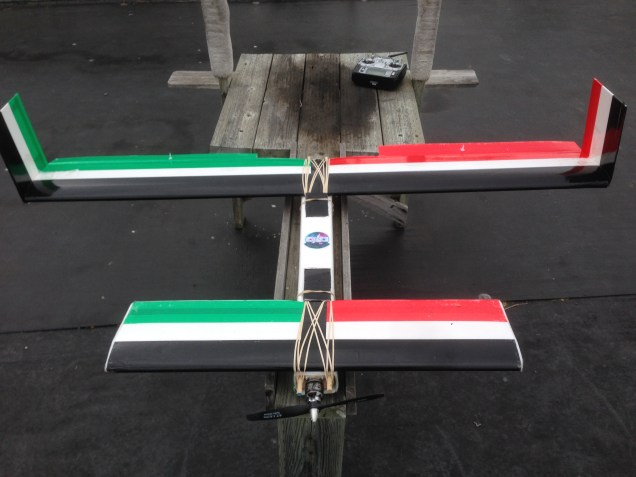 The Ansley Peace Drone: The platform for this drone allows room for experimentation with low-cost materials and mass production