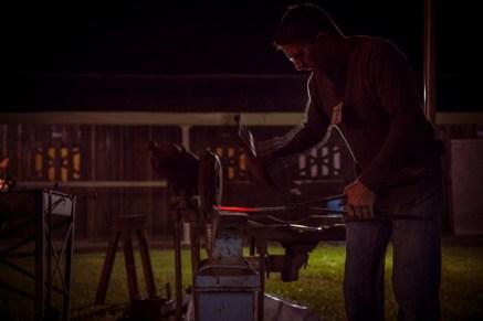 Ben Abbott works during Open Forge.