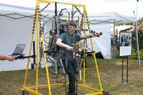 The AJAX Exosuit is a pneumatically powered exoskeleton that allows the wearer to lift 400lbs with little or no effort.