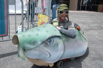 The Electric Trout Car by artist/maker Alvin Petty.