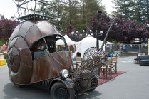 The Golden Mean snail car by Jon Sarriugarte and Kyrsten Mate.