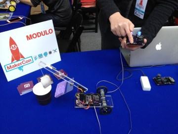 Tiny modular circuit boards.