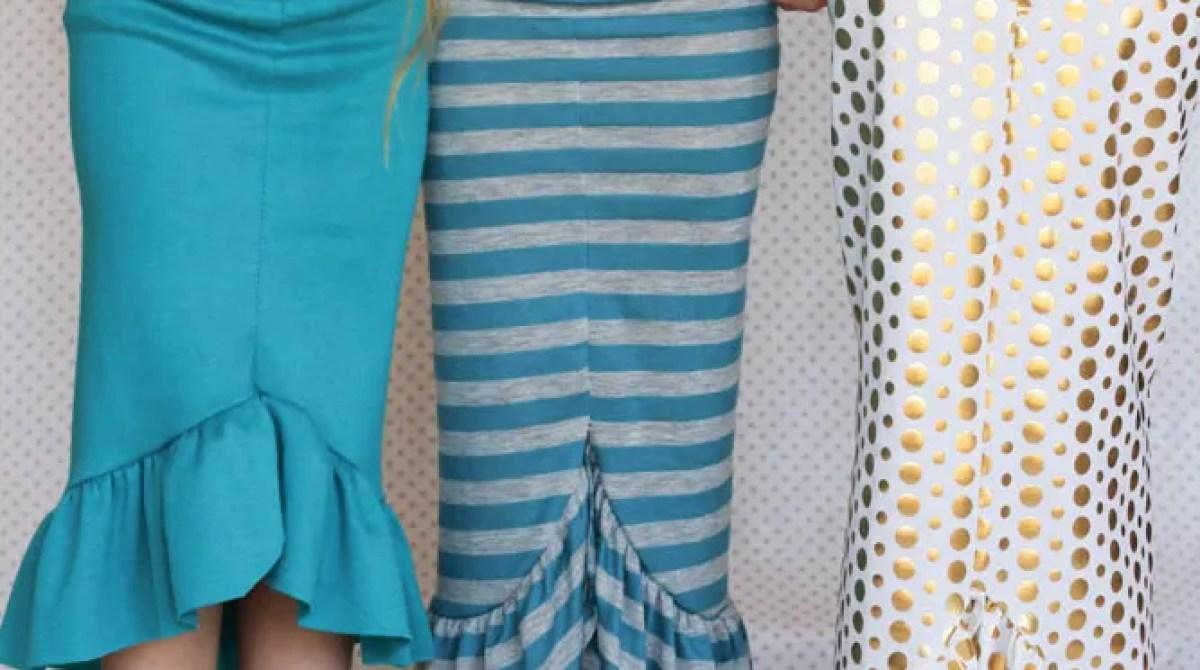 Quick Sew: 30 Minute Mermaid Tail Skirt
