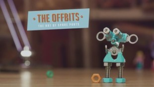 The Offbits are robot action figures made with upcycled parts.