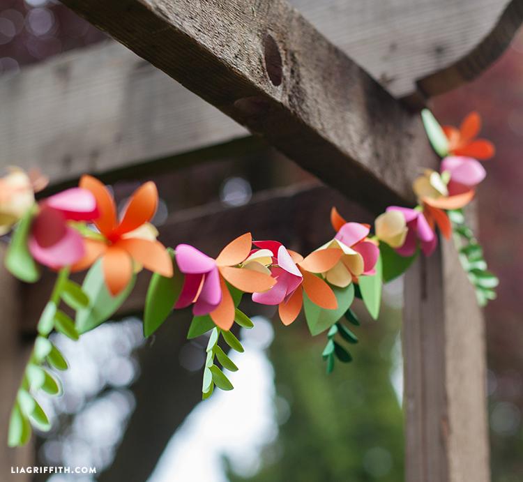 Spring Time Decor: 3D Paper Flower Garland