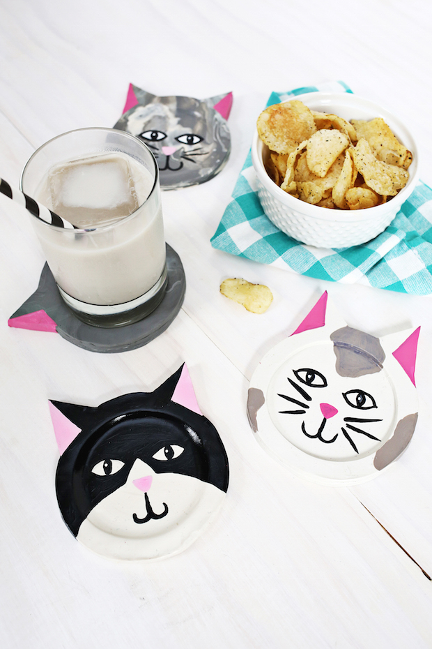 Cat Craft: Clay Kitty Coasters