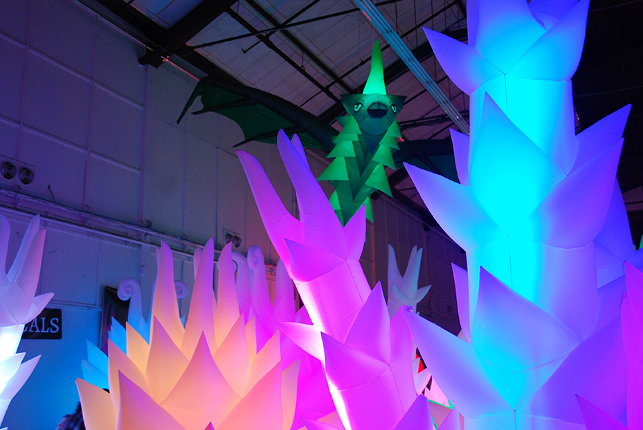 See Maker Faire's Dark Room in All Its Glowing Glory
