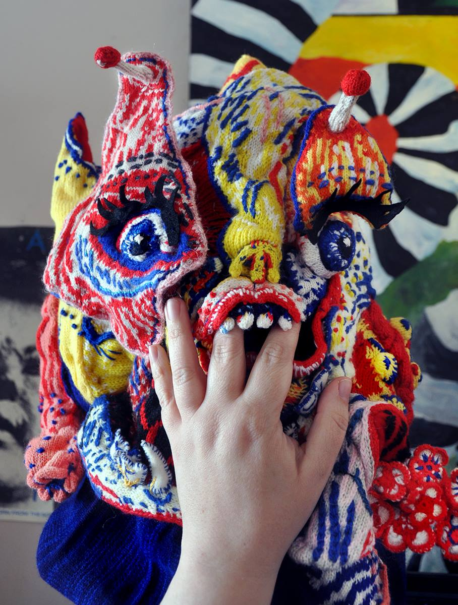 Gorgeous Gore: An Amazing Knit Mask From Brutal Knitting