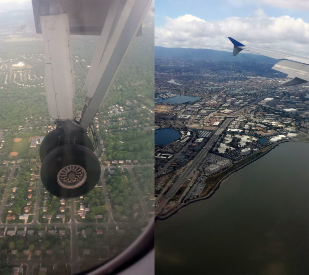 From Chuck's first hopper flight to the descent into SFO.
