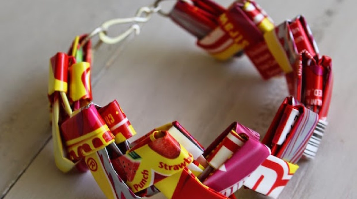 Super-Sweet Kid Craft: Starburst Candy Wrapper Bracelets | Make: