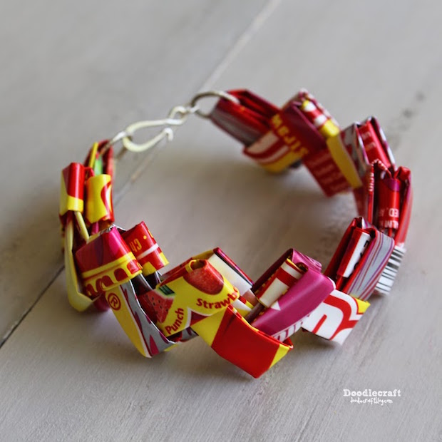 Super-Sweet Kid Craft: Starburst Candy Wrapper Bracelets