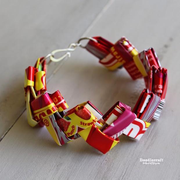 Super-Sweet Kid Craft: Starburst Candy Wrapper Bracelets