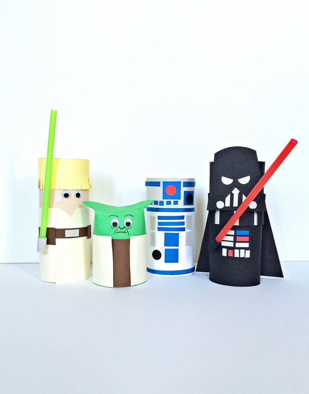 May the Fourth Be with You: Toilet Paper Tube Star Wars Characters