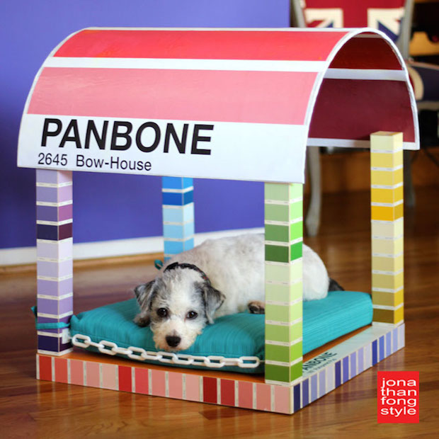 Two Paws Up: Panbone Pantone-Inspired Paint Chip Dog Bed