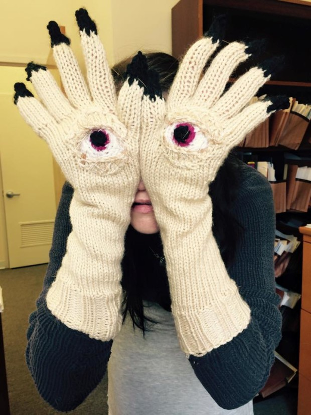 Knitted Pans Labyrinth Gloves Make