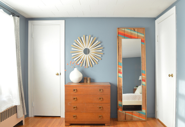Pretty in Paint: Colorful Leaning Mirror