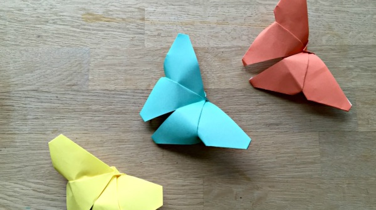 Easy Origami Butterfly - Origami Tutorial for Beginners - Paper ... | 670x1200