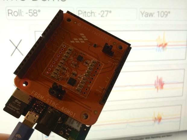 Esquilo board with a Freescale IMU shield.