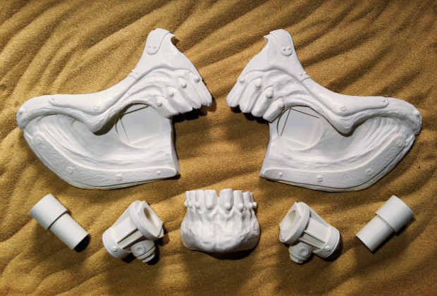 SLS Printed Parts For The Replica Mask.