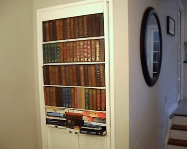 How to Build a Secret Faux Bookcase Door  DIY by TVTara — via YouTube