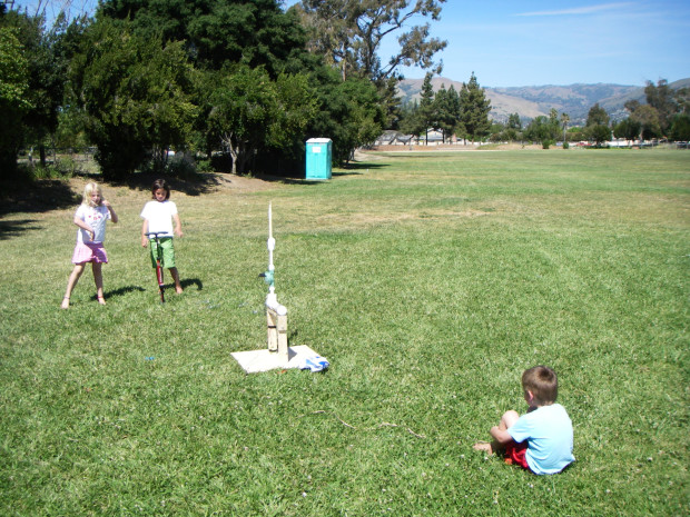 Compressed Air Rockets — Build an easy launcher and rockets with common hardware store items in an afternoon.